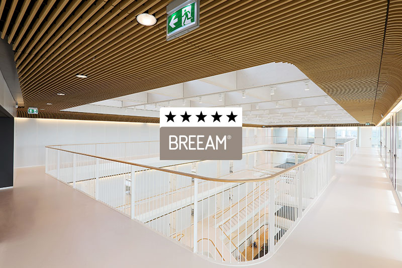 Durable ceiling or wall system provides credits for BREEAM