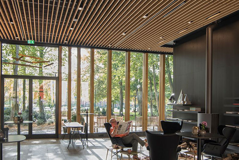 Derako wooden grill ceilings bring atmosphere to an historic country estate