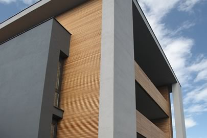 facade renovation - solid wood double skin